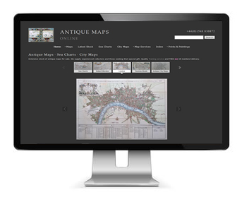 Antiques website design