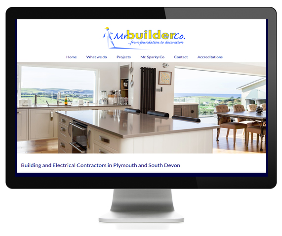 Buldeing and Electrical Contractors content management website design