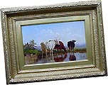 Cattle Watering from Antique Fine Art .com