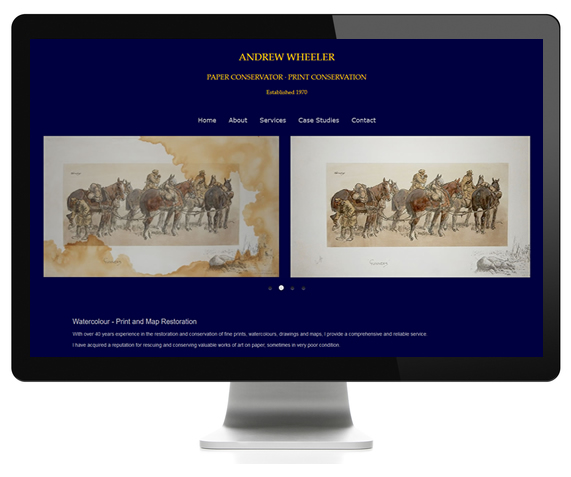 Fine Art Conservation website design