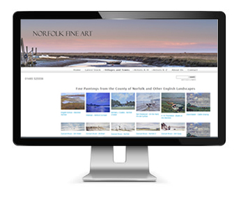 Fine Art and Ecommerce Website Design
