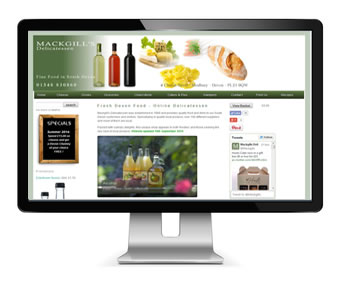 Food Retailer Web design