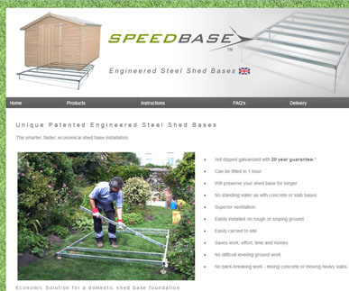 Shed Bases - Unique British Design for Shed Foundations from SpeedBase