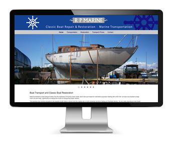 Small Marine Business Website